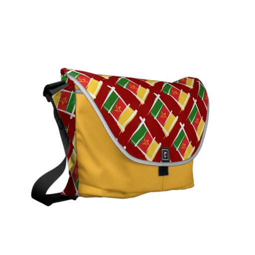 Cameroon Brush Flag Courier Bag