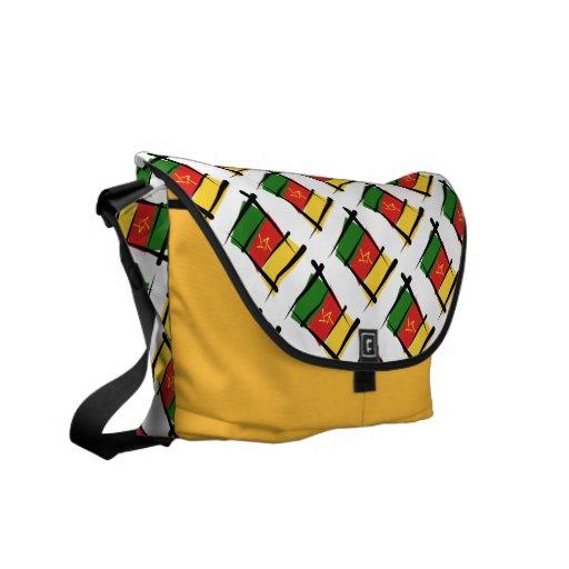 Cameroon Brush Flag Messenger Bags