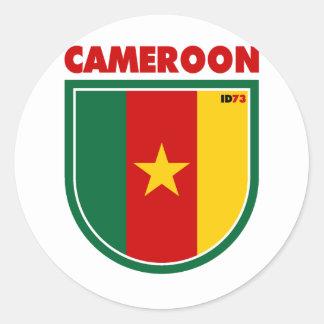 Cameroon Classic Round Sticker