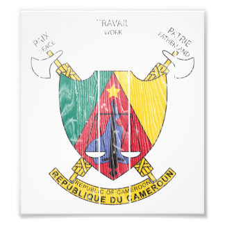 Cameroon Coat Of Arms Photo Art