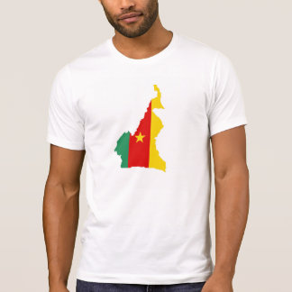 cameroon country flag map shape silhouette symbol T-Shirt