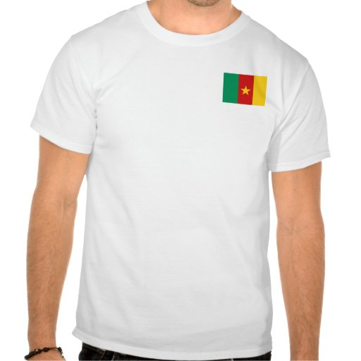 Cameroon Flag and Map T-Shirt