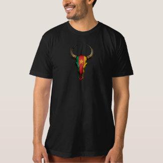 Cameroon Flag Bull Skull T-Shirt