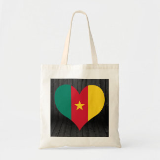 Cameroon flag colored budget tote bag