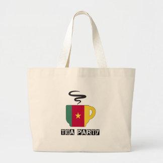 Cameroon Flag Designs Jumbo Tote Bag