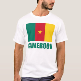 Cameroon Flag Green Text T-Shirt