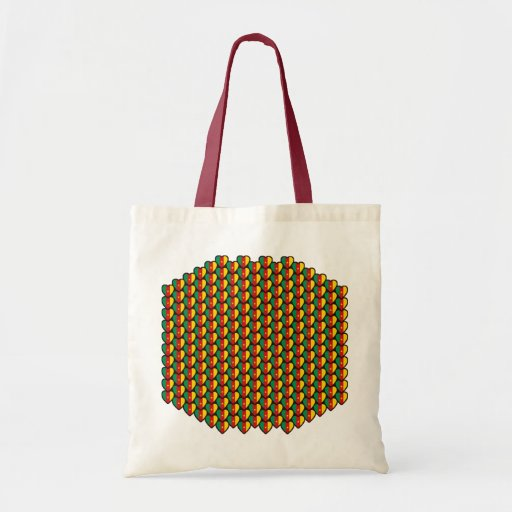 Cameroon Flag Hearts Bag