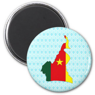 Cameroon Flag Map full size Magnet