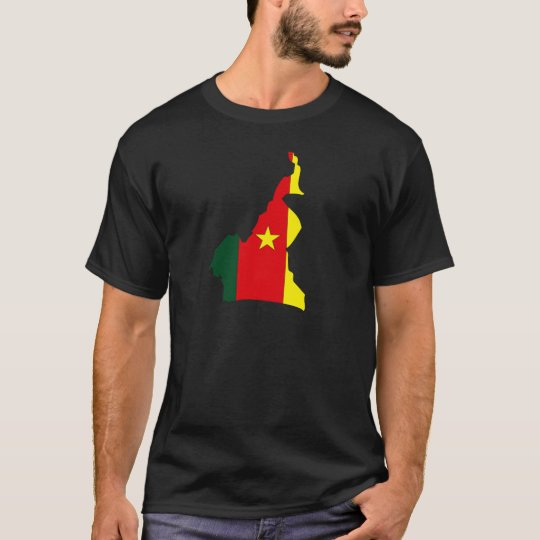 Cameroon Flag Map full size T-Shirt
