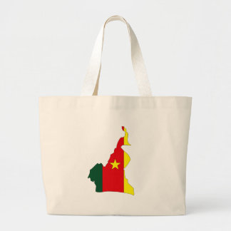 Cameroon flag map jumbo tote bag