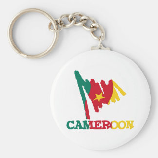 Cameroon Goodies 1 Basic Round Button Key Ring