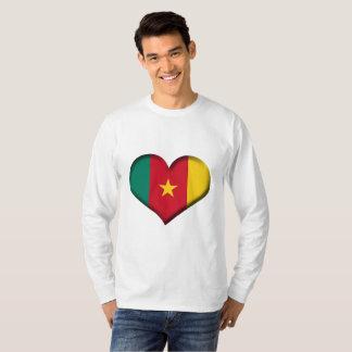 Cameroon Heart Flag T-Shirt