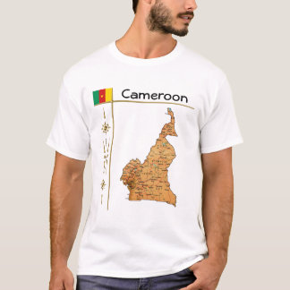 Cameroon Map + Flag + Title T-Shirt