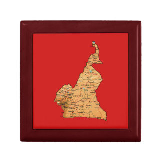 Cameroon Map Gift Box