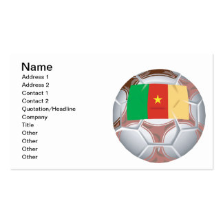 Cameroon Soccer Ball Pack Of Standard Business Cards