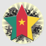 Cameroon Star Round Stickers