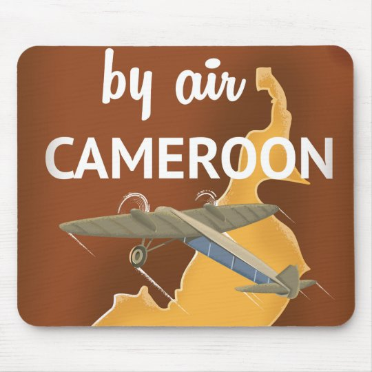 Cameroon Vintage Travel poster Mouse Mat