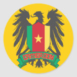 Cameroon Winged Round Sticker