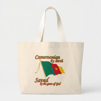cameroonian by birth saved by the grace of God Jumbo Tote Bag