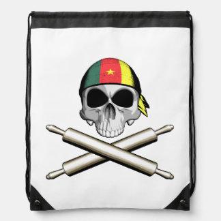 Cameroonian Chef 3 Drawstring Bags