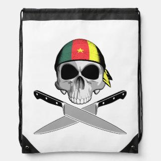 Cameroonian Chef Drawstring Bags