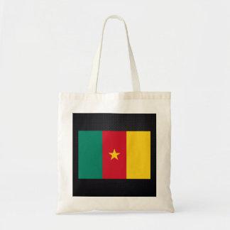 Cameroonian flag budget tote bag