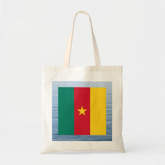 Cameroonian Flag Floating on water Budget Tote Bag