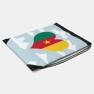 Cameroonian Flag on a cloudy background Rucksacks