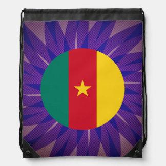 Cameroonian Flag Souvenir Drawstring Bags