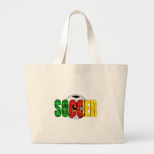Cameroonian soccer ball flag logo gifts bag