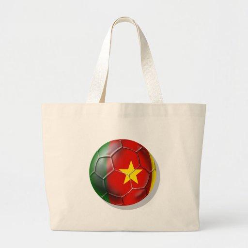Cameroonian soccer ball flag of Cameroon Bag