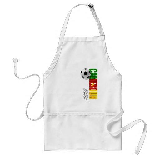 Cameroun 2010 flag logo vertical artwork gifts standard apron
