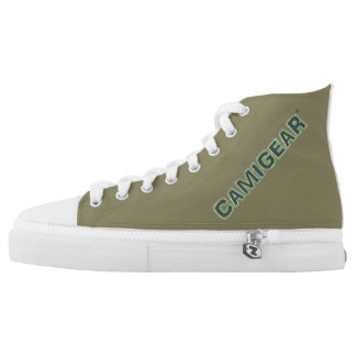 CAMIGEAR® Custom Zipz High Top Shoes Printed Shoes