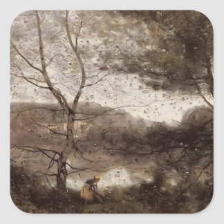 Camille Corot- Ville d Avray Sticker