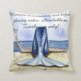 Camille Grimshaw Beach Margarita Mermaid Pillow