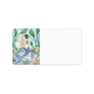 Camille Grimshaw Mermaid Wedding Address Labels
