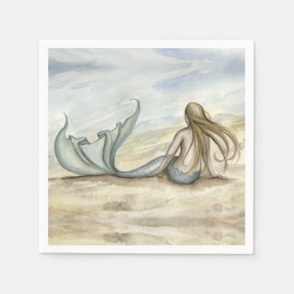 Camille Grimshaw Seaside Mermaid Napkins Disposable Serviettes