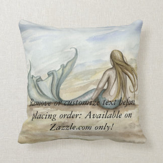 Camille Grimshaw Seaside Mermaid Pillow
