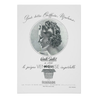 Camille GUILLOT (Vintage french ad) Poster