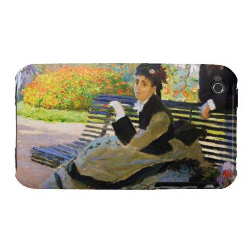 Camille Monet on a Garden Bench Claude Monet iPhone 3 Cover