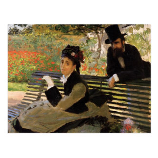 Camille Monet On Garden Bench Postcard