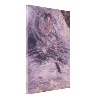 Camille Monet sur son lit de mort by Claude Monet Gallery Wrap Canvas