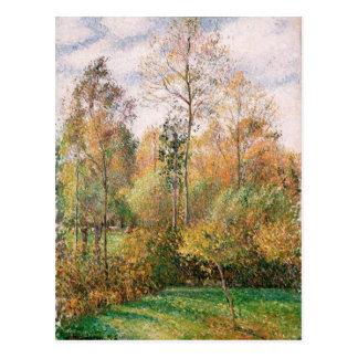 Camille Pissarro - Autumn, Poplars, Eragny Postcard