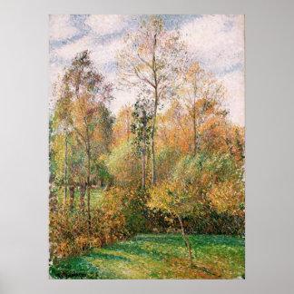 Camille Pissarro - Autumn, Poplars, Eragny Poster