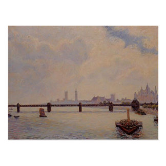 Camille Pissarro- Charing Cross Bridge, London Postcard