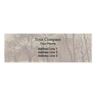 Camille Pissarro- Chestnut Orchard in Winter Business Card