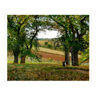 Camille Pissarro - Chestnut Trees @ Osny 1873 Oil Postcard