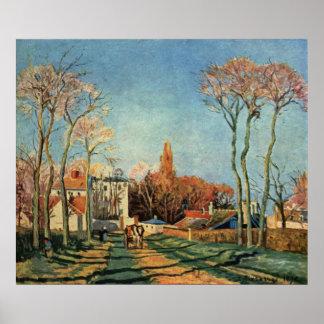 Camille Pissarro  Entrance to Voisins Village 1872 Poster