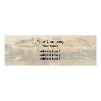 Camille Pissarro- Flood in Pontoise Business Card Templates
