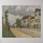 Camille Pissarro - Gisors Street Rue Lane 1868 Oil